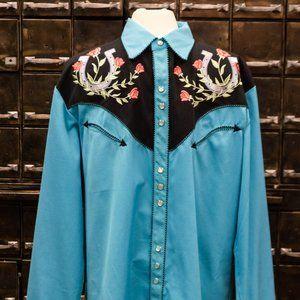 Mens Cowboy Western Shirt, Pearl buttons,